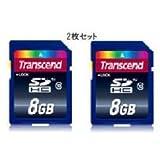 【お買い得8GB×2枚セット】 トランセンド SDHCメモリーカード CLASS10 TS8GSDHC10 X2