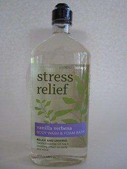Bath & Body Works Aromatherapy Stress Relief Vanilla Verbena Body Wash 10 Oz.