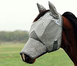 Cashel Crusader Fly Mask Long Weanling Sm Pony Ears