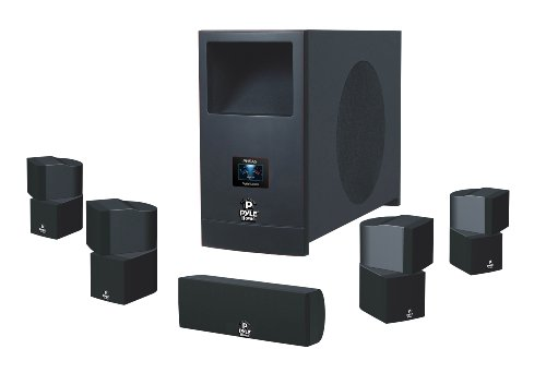 Pyle Home PHSA5 5.1 Home Theater System With Active Subwoofer and Five Satellite Speakers