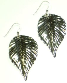 Kipepeo Silver Leaf Earrings