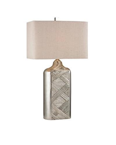 Artistic Lighting 1-Light Table Lamp, Silver Leaf