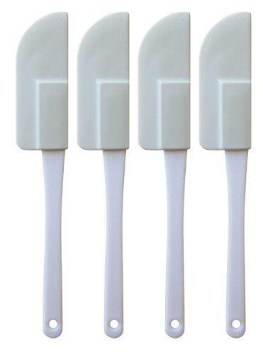Set of 4 Flexible Rubber Mini Scraper, Spatula (Scraper Spatula And Small Spatula compare prices)