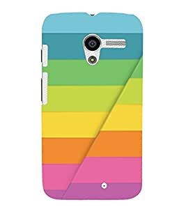 PrintVisa 3D Colourful Pattern 3D Hard Polycarbonate Designer Back Case Cover for Motorola Moto X