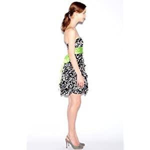 Amazon.com: Jump Junior's Printed Pick Up Dress With Lime Accents: Clothing from amazon.com