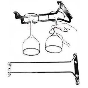 New, 10-Inch Long, Wine Glass Rack, Wire Hanging Rack, Wine