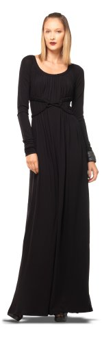 MAXSTUDIO LONG SLEEVE MAXI DRESS BLACK, M picture