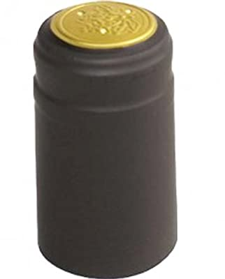 30 Black PVC Shrink Capsules
