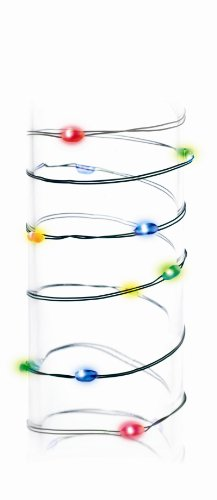 Gki Bethlehem Lighting 18 Slim Wire Multicolor Micro Battery Operated Led Christmas Lights Green Wire
