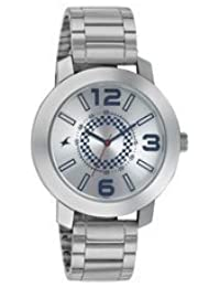 Fastrack Guys Stainless Steel Analog Silver White Watches 3120sm03