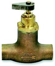 "3/4"" Sweat Bronze Straight Flow Control"