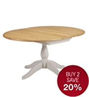 Padstow Extending Round Dining Table