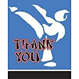 Black Belt Birthday Thank You Notes Package of 8