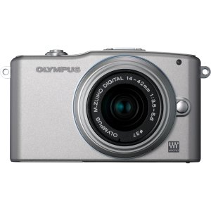 Olympus PEN E-PM1 12.3MP Interchangeable Lens Camera with CMOS Sensor, 3-inch LCD and 14-42mm II Lens (Silver)