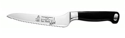 Messermeister San Moritz Elite Offset Scalloped Knife, 6-Inch