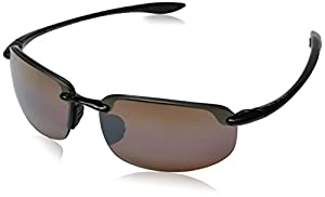 Maui Jim H407-02 Black Hookipa Wrap Sunglasses Polarised Golf, Sailing, Cycling