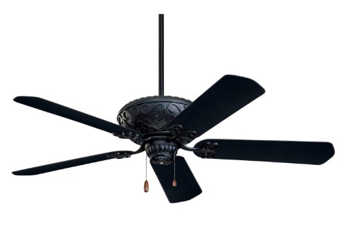 Emerson CF670BQ Devonshire Indoor/Outdoor Ceiling Fan, 52-Inch Blade Span, Barbeque Black Finish and All-Weather Barbeque Black Blades