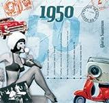 62. Geburtstag Geschenken – 1950 Chart Hits CD und 1950 Geburtstagskarte