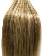 20 inch Col 8/613. Full Head Clip in Human Hair Extensions. High quality Remy Hair!. 120g Weight