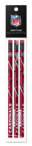 Arizona Cardinals 3 Pack Wood Pencil In Clear Bag With Header - Nfl (12005-Qua)