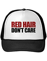 Funny Red Hair Don'T Care Trucker Hat