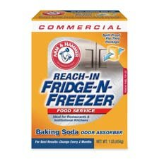 Church & Dwight Products - Freshener, Fights Odors in Refrigerator/Freezer, 16 oz. - Sold as 1 EA - Spill-proof pack of Baking Soda Odor Absorber is the effective way to fight food odors in the refrigerator and freezer. Simply open the cardboard flap and let air flow through the box. Baking soda will not spill out, but is contained with special paper material. Great for breakroom areas to help keep food retain its taste.