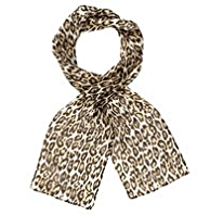 Classic Pure Silk Lightweight Animal Print Scarf