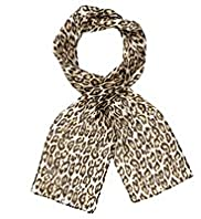 Classic Collection Pure Silk Lightweight Animal Print Scarf