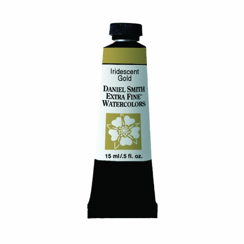Daniel Smith Extra Fine Watercolor 15ml Paint Tube, Iridescent, Gold