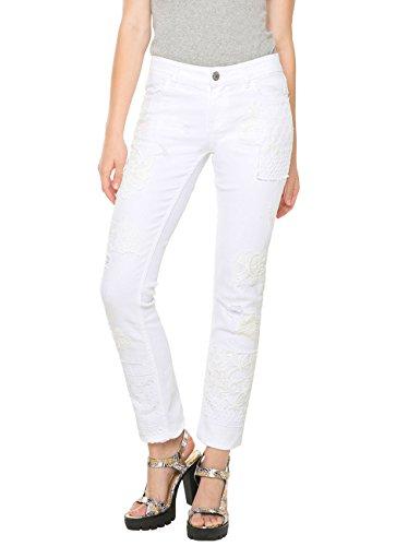 Desigual DENIM_BLONDIE WHITE-Blu Donna    Bianco (Blanco) W28