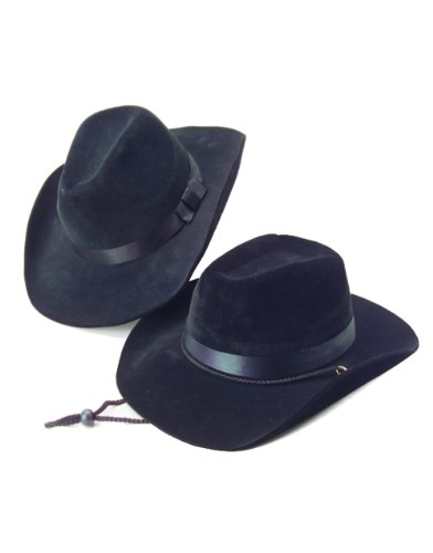 Country Black Cow Boy or Girl Felt Costume Hat