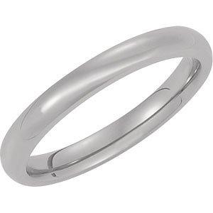 3mm Titanium Rounded Band, Size 10