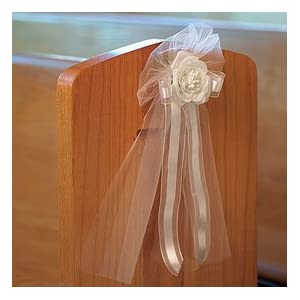 Ribbon bows with silk rose