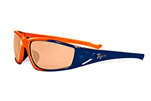 MLB Detroit Tigers Viper Sunglasses with Bag, Navy and Orange, Adult by Maxx