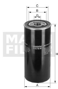 Mann+Hummel WD962 Hydraulic Oil Filter