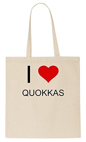 I Love QUOKKAS Tote Bag