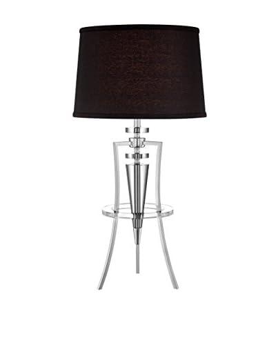 Lite Source Triocof Table Lamp, Black