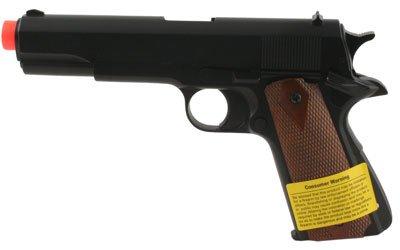 HFC M1911-A1 GAS Airsoft Hand Gun 1:1 Scale ~ Black