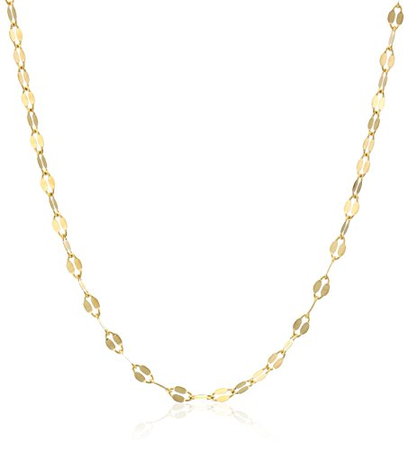 18k Italian Yellow Gold Cable Chain Necklace, 19.5