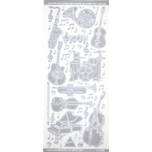 MUSICAL INSTRUMENT STIX SILVER Papercraft, Scrapbooking (Source Book)