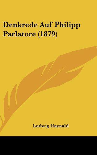 Denkrede Auf Philipp Parlatore (1879)