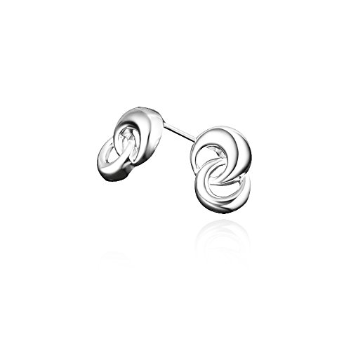 "AmberMa ""Fade Love"" Glamours Twist Charm Pendant Earrings 925 Sterling Silver Fashion for Women Girls"