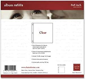 Chatterbox Refill Page Protectors 8 Inch X8 Inch