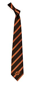 Oklahoma State University Cowboys NCAA College Sports Striped Mens Neck Tie