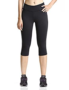 Baleaf Women's Yoga Capri Legging Black