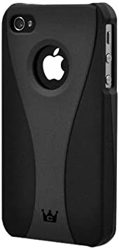 CaseCrown Exo Case for Apple iPhone 4 and 4S (AT&T, Sprint, & Verizon compatible) - Dark Gray/Black