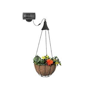 Gama Sonic Solar Outdoor Hanging LED Spotlight with Attachable Hanging