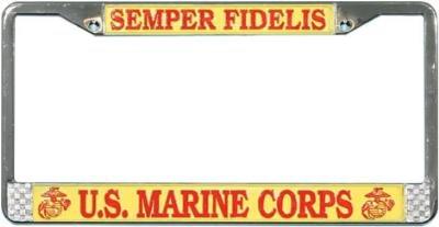 us-marine-corp-semper-fidelis-license-plate-frame