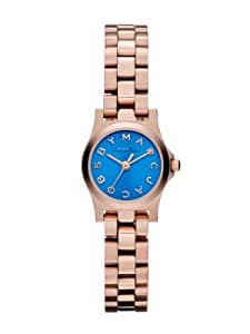 Marc Jacobs Henry Dinky Blue Dial Rose Gold-Tone Stainless Steel Ladies Watch MBM3204