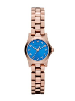 Marc Jacobs Henry Dinky Blue Dial Rose Gold-Tone